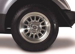 10-Zoll-Aluminiumräder im 4-Speichen-Design